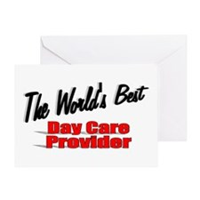 """""""The World's Best Day Care Provider"""" Greeting Card"""