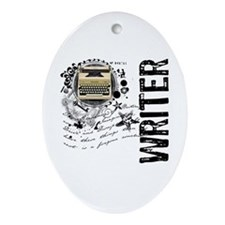 Writer Alchemy Oval Ornament
