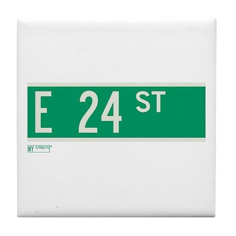 24th Street in NY Tile Coaster