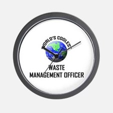 World's Coolest WASTE MANAGEMENT OFFICER Wall Cloc