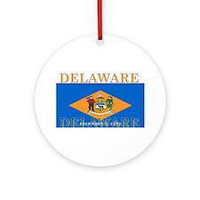 Delaware State Flag Ornament (Round)