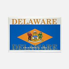 Delaware State Flag Rectangle Magnet