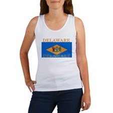 Delaware State Flag Women's Tank Top