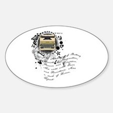 The Alchemy of Writing Oval Decal