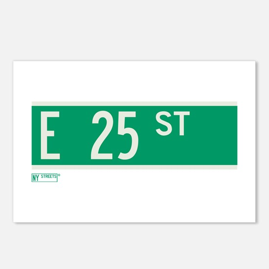 25th Street in NY Postcards (Package of 8)