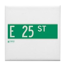 25th Street in NY Tile Coaster