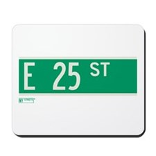 25th Street in NY Mousepad