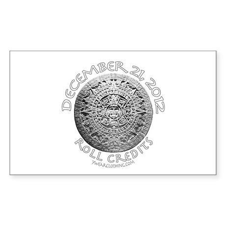 Mayan Calendar Fade Rectangle Sticker