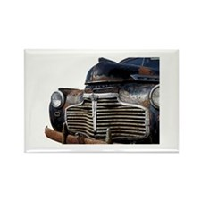 Vintage Rusted Car Rectangle Magnet