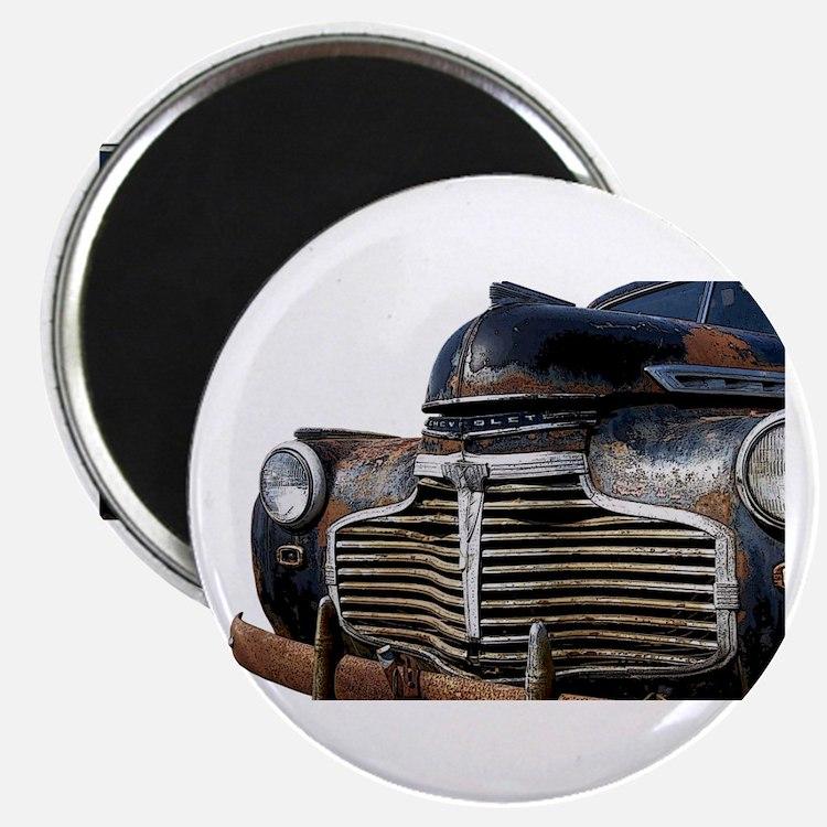 Vintage Rusted Car Magnet