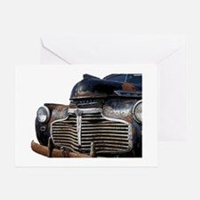 Vintage Rusted Car Greeting Card