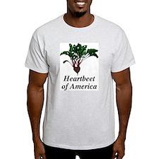 Heartbeet of America Ash Grey T-Shirt