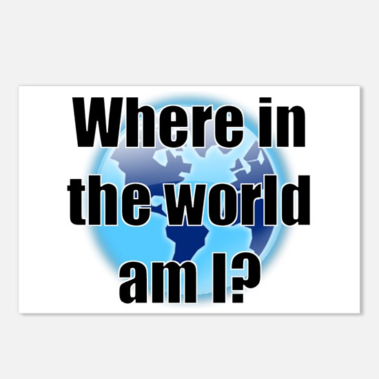 Where in the world am I? Postcards (Package of 8)