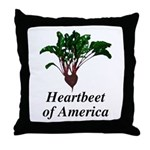 Heartbeet of America Throw Pillow