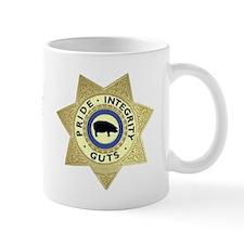 """""""PIG"""" Sheriff Badge Mug"""