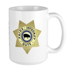 """PIG"" Sheriff Badge Mug"