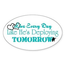 Deploying Tomorrow Oval Decal