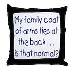Genealogy Coat of Arms (blue) Throw Pillow