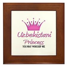 Uzbekistani Princess Framed Tile