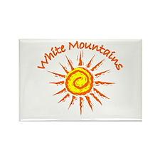 White Mountains Rectangle Magnet