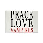 Peace, Love, Vampires Rectangle Magnet
