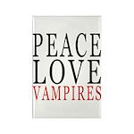 Peace, Love, Vampires Rectangle Magnet (10 pack)