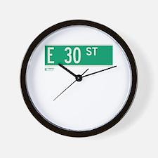 30th Street in NY Wall Clock