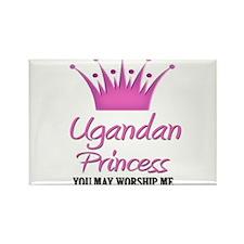 Ugandan Princess Rectangle Magnet (10 pack)