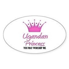 Ugandan Princess Oval Decal