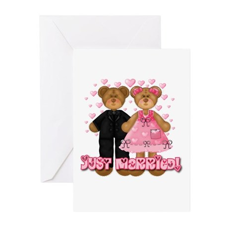 Just Married Bears Greeting Cards (Pk of 20)