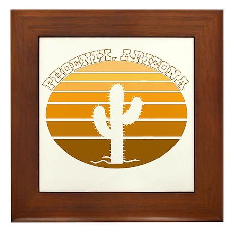 Phoenix, Arizona Framed Tile