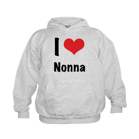 I 'heart' Nonna Kids Hoodie