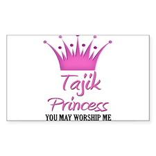 Tajik Princess Rectangle Decal