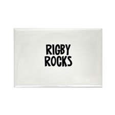 Rigby Rocks Rectangle Magnet