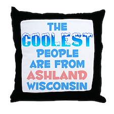 Coolest: Ashland, WI Throw Pillow