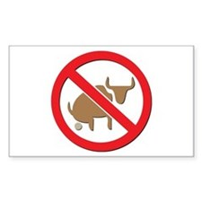 No Bull Rectangle Decal