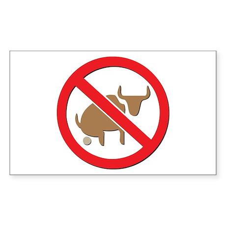 No Bull Rectangle Sticker