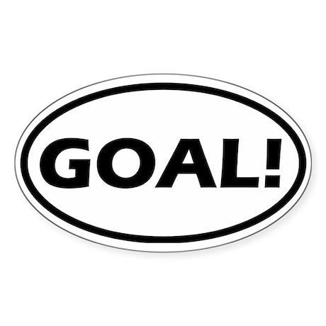Goal! Oval Sticker