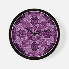 Abstract 1 (Violet) Wall Clock