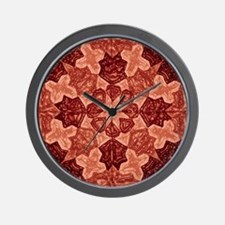 Red Abstract 1 Wall Clock