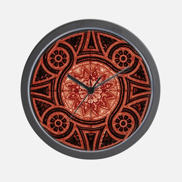 Red Abstract 3 Wall Clock