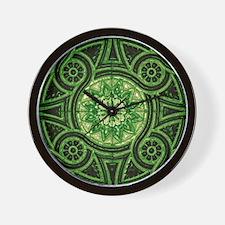 Green Abstract 3 Wall Clock