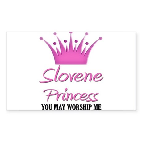 Slovene Princess Rectangle Sticker