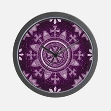 Violet Abstract 2 Wall Clock