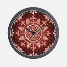 Red Abstract 2 Wall Clock