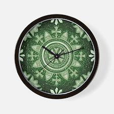 Green Abstract 2 Wall Clock