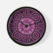 Violet Abstract 3 Wall Clock