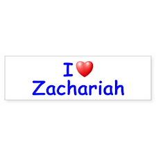 I Love Zachariah (Blue) Bumper Bumper Sticker