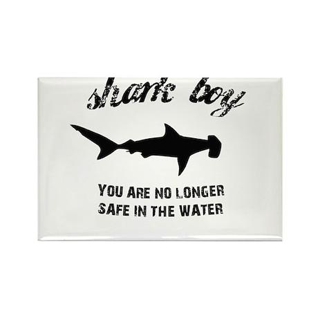 Shark Boy Rectangle Magnet