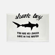 Shark Boy Rectangle Magnet